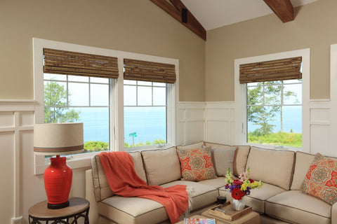 beach house sectional in sunbrella