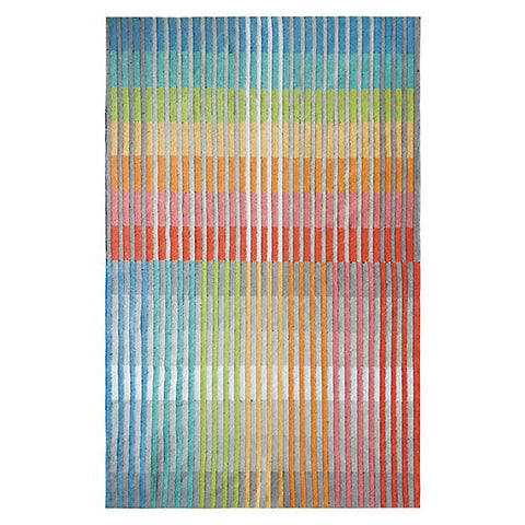 Chromatic Plaid Multi Hand Woven Rug