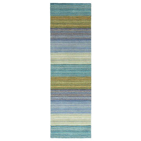 Brushstroke Wool Rug Blue