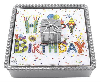 Birthday Present Beaded Napkin Box