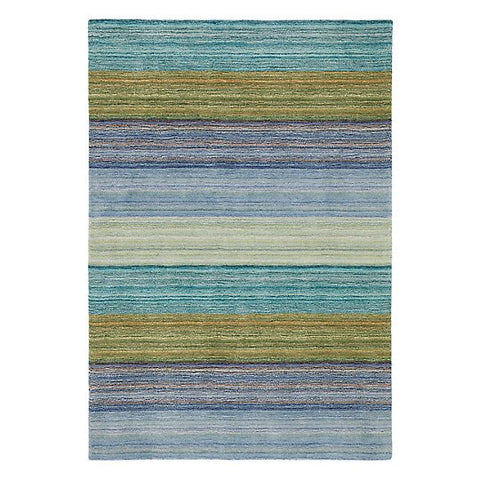 Brushstroke Wool Rug Blue 9x13