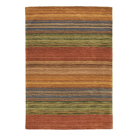 Brushstroke Wool Rug Multi 9x13