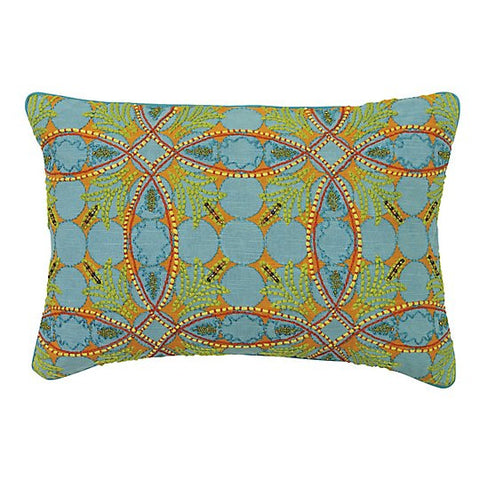 "Augustine Turquoise 14""x20"" Pillow"