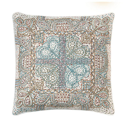 "Agra  Multi Blue 18""X18"" Pillow"