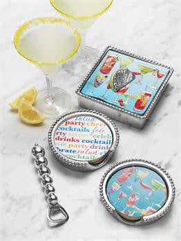 Beaded Cheers Coaster Set