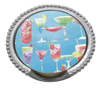 Cocktail Blue Beaded Coaster Set