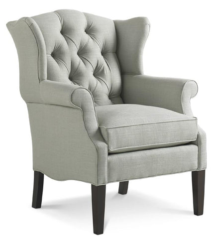 Belford Tufted Wingback Chair in Washed Tripoli / Slate