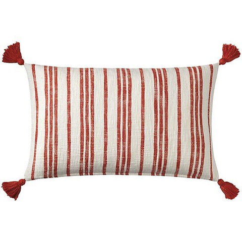 Grain Sack Pillow-Newport Red