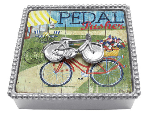 Bicycle Beaded Napkin Box