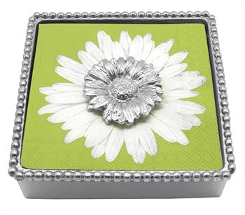 Daisy Beaded Napkin Box