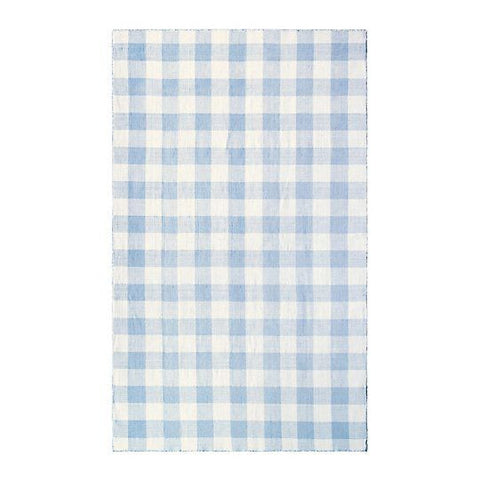 Check Please Blue Mist Hand Woven Rug