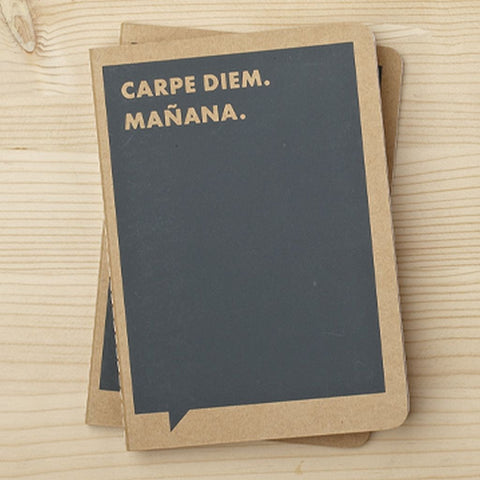 Frank and Funny Notebook - Carpe Diem Manana