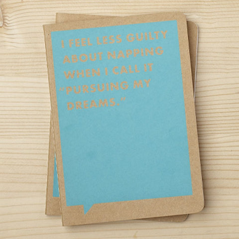 Frank & Funny Notebook - I Feel Less Guilty About Napping