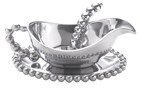 Pearled Gravy Boat 3 Piece Set