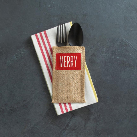 Merry Silverware Pouch