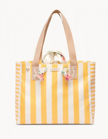 Beach Tote Lemon Stripe