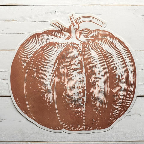 Die-Cut Pumpkin Placemat 12 Sheets