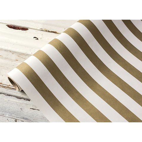 "Classic Stripe Gold Table Runner 20""x25'"