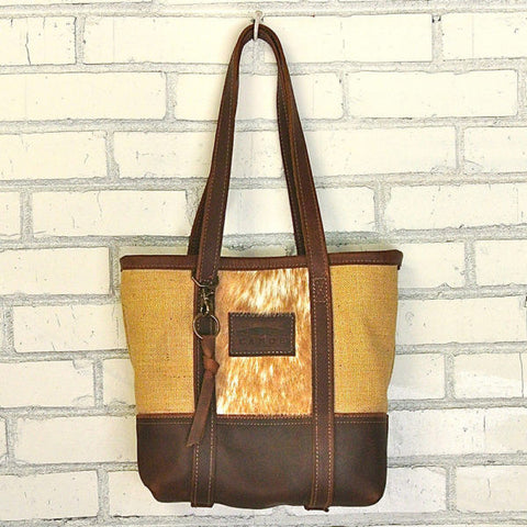 Kodiak Little Bucket Burlap/Golden Bag