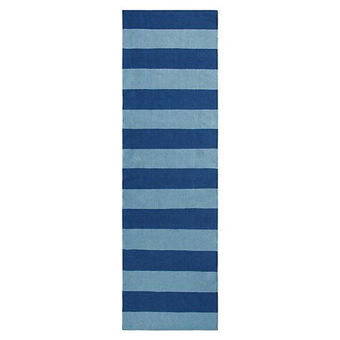 Awning Stripe Indoor/Outdoor Rug-Navy