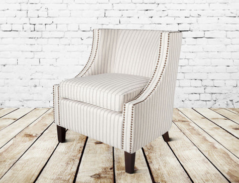 Montauk Occasional Chair in Denim Stitch