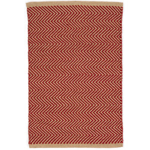 Arlington Indoor Outdoor Red/Camel Rug 10x14