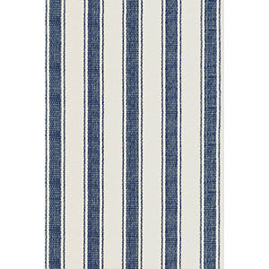 Blue Awning Stripe Indoor/Outdoor Rug 10x14