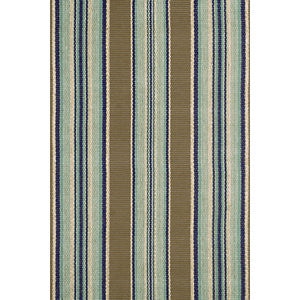 Blue Heron Stripe Cotton Rug 9x12