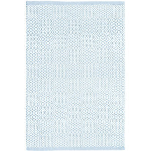 Bonnie Blue Woven Cotton Rug 10x14