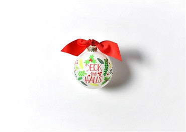 Deck The Halls-Glass Ornament