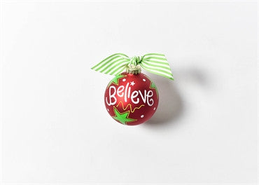Believe-Christmas Glass Ornament