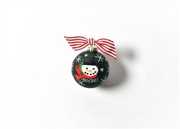Jolly Jolly Snowman-Glass Ornament