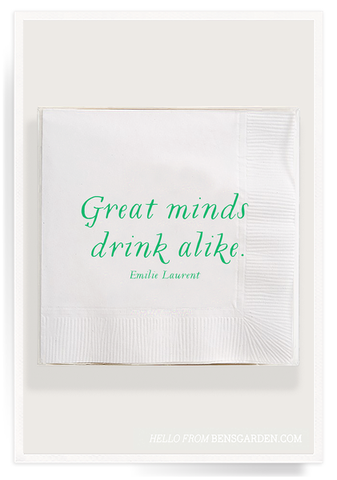 Great Minds Drink Alike Cocktail Napkns 40 Count