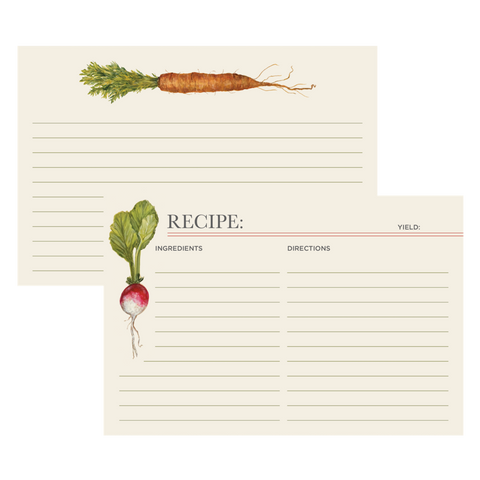 Farmer's Market Recipe Card Set of 12