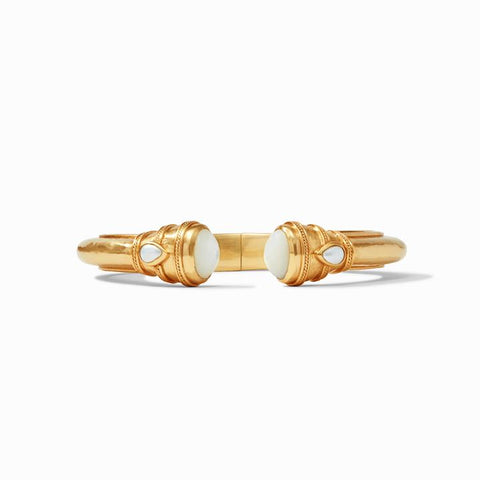 Cassis Demi Hinge Cuff Gold Mother of Pearl