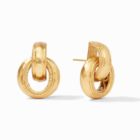 Cassis Doorknocker Earrings-Gold