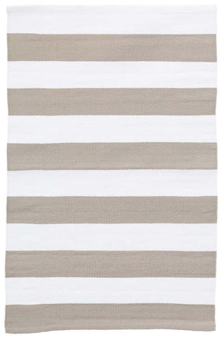 Catamaran Stripe Platinum/White Indoor Outdoor