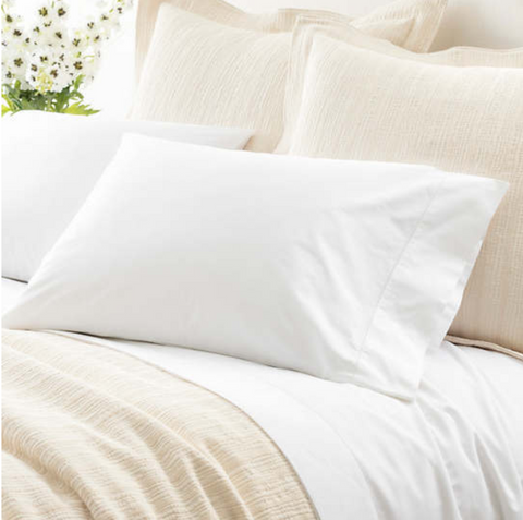 Classic Hemstitch White Pillowcases