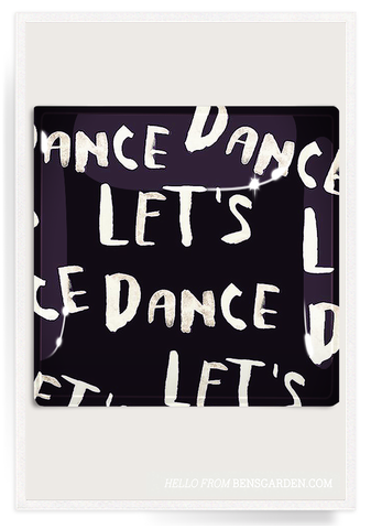 Let's Dance Handwritten Decoupage Glass Tray 8x8