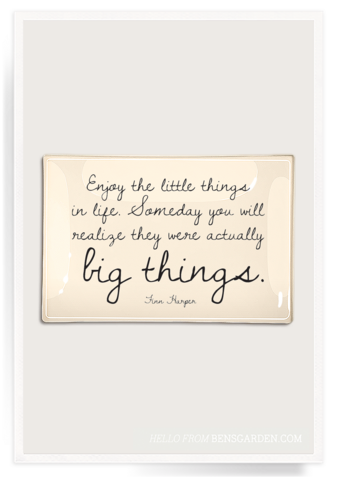 Enjoy The Little Things In Life Decoupage Glass Tray 4x6