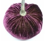 Purple Velvet Pumpkin