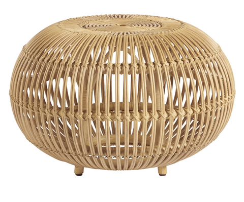 Coastal Living Small Rattan Scatter Table
