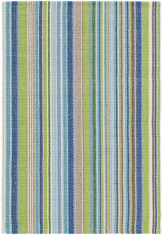 Fisher Ticking Cotton Woven Rug.