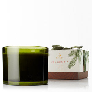 Frasier Fir 3-Wick Green Glass Candle