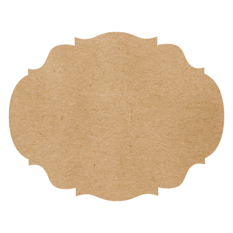 Die Cut Kraft French Frame Placemat Set of 12