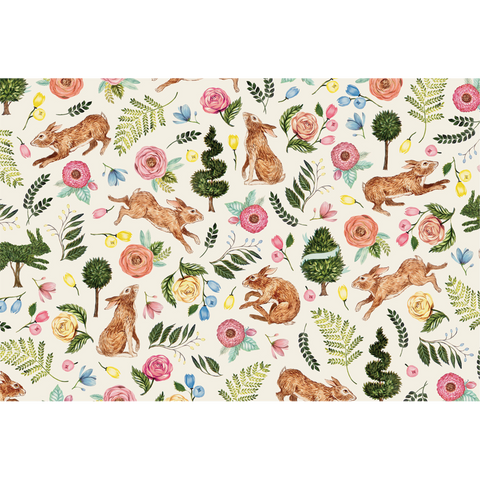 Bunny Garden Placemat-24 per Pad