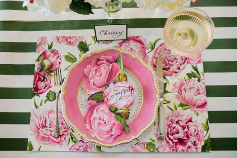 Peonies In Bloom Placemat 24 per Pad