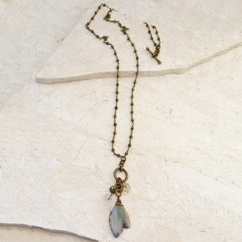 Hand Wrapped Drops Trinket Short or Long Necklace