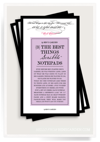 The Best Things In Life Scribble Notepad Set of 3