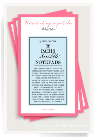 Paris Is Always A Good Idea Scribble Notepad Set of 2